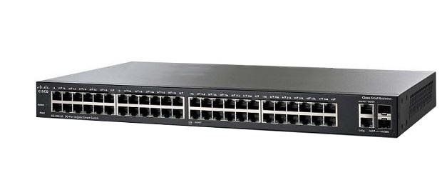 48-Port Gigabit PoE with 4-Port 10-Gigabit Smart Switch CISCO SG250X-48P-K9-EU